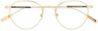 Montblanc Established oval frame glasses