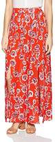 Angie Women's Print Front Slit Maxi Skirt