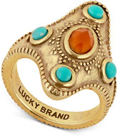 Lucky Brand Gold-Tone Beaded Statement Ring
