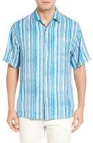 Tommy Bahama Men's Big & Tall Stripe Me To Paradise Silk Camp Shirt