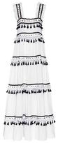Dodo Bar Or Embellished cotton maxi dress