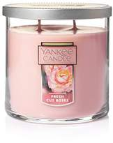 Yankee Candle Medium 2-Wick Tumbler Candle, Fresh Cut Roses