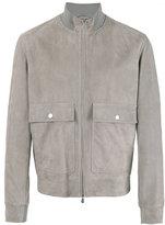 Brunello Cucinelli suede jacket - men - Cotton/Leather/Cupro - S