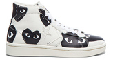 Comme des Garcons High Top Canvas Sneakers