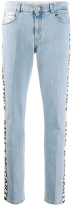 Stella McCartney Logo Stripe Slim Jeans