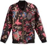 GUESS Girls' Floral Brocade Bomber Jacket