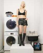 Helmut Lang Leather Mini Short