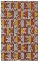 Tribeca Flatweave Paprika Diamonds Wool Rug (3'6 x 5'6)