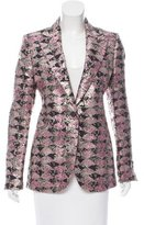 CNC Costume National Metallic-Accented Wool-Blend Blazer w/ Tags