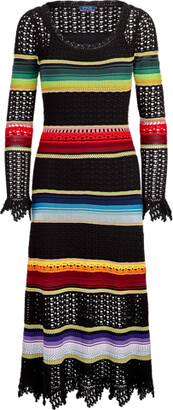 Ralph Lauren Striped Crochet Dress
