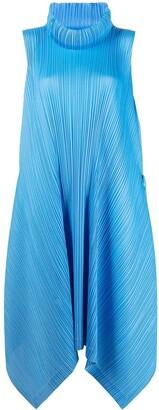 Pleats Please Issey Miyake Pleated High-Neck Dress