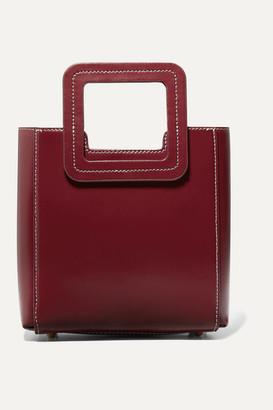 STAUD Shirley Mini Leather Tote - Burgundy