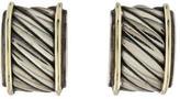 David Yurman Two-Tone Sculpted Earrings