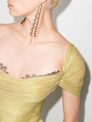 Maria Lucia Hohan Sharon short-sleeve pleated gown