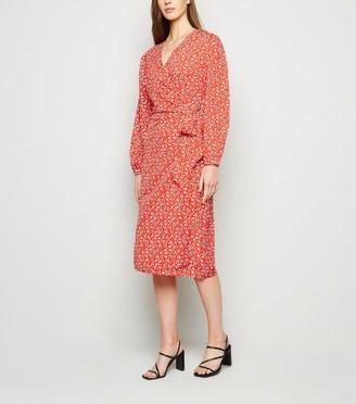 New Look Leopard Print Midi Wrap Dress