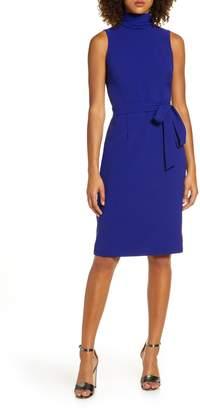 Chelsea28 Turtleneck Sleeveless Fit & Flare Dress