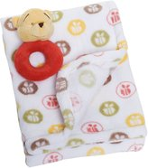 Disney Printed Boa Blanket with Rattle, Winnie the Pooh