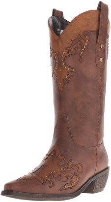 AdTec Ad Tec Women's 13 Inch Western Pull On Work Boot (Brown 6.5)