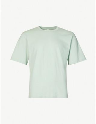 Pieces Uniques Trust brand-print cotton-jersey T-shirt