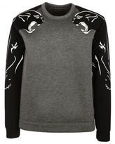 Valentino Black Panther Print Sweater