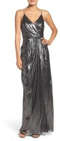 Vera Wang Women's Metallic Gown
