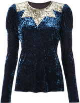 Anna Sui starburst velvet top