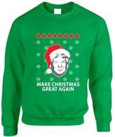 Allntrends Adult Sweatshirt Donald Trump Make Christmas Great Again Ugly Xmas (2XL, )