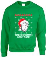 Allntrends Adult Sweatshirt Donald Trump Make Christmas Great Again Ugly Xmas (3XL, )