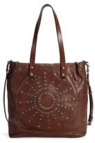 Old Trend Stars Align Leather Tote Bag