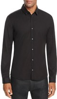 HUGO Ero Metal Accent Slim Fit Button Down Shirt