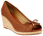 As Is Liz Claiborne New York Open Toe Perforated Wedges