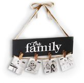 """Mud Pie Our Family"""" Clothespin Hanging Photo Holder"""