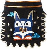 Valentino dragon embroidered mini skirt