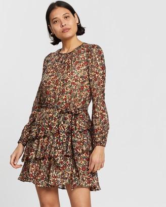 Shona Joy Josephine Ruffle Mini Dress