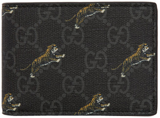 Gucci Black GG Tiger Wallet