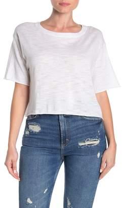 360 Cashmere Lolo Dolman Sleeve Slub Crop T-Shirt