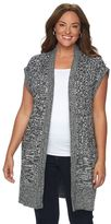 Croft & Barrow Plus Size Ribbed Sweater Vest