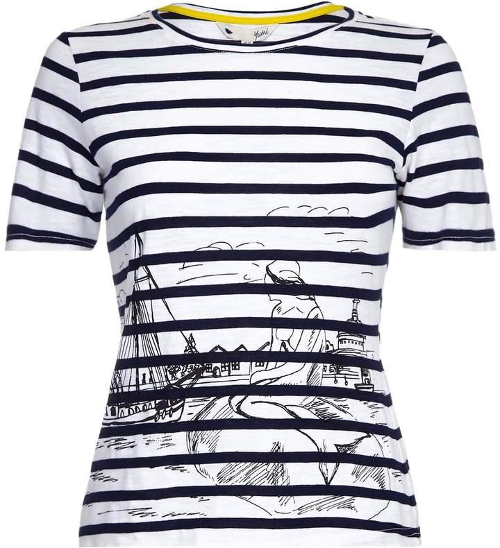 Yumi Womens/Ladies Mermaid Print Scadi T Shirt