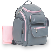 Jeep Light Gray & Pink Backpack Diaper Bag & Changing Pad