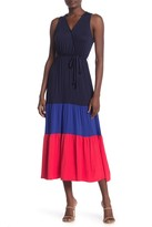 Velvet Torch Colorblock Sleeveless Tiered Jersey Midi Dress