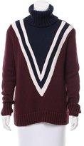 Tory Sport Wool-Blend Turtleneck Sweater
