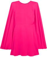 Alexander McQueen Cape-back Crepe Mini Dress - Fuchsia