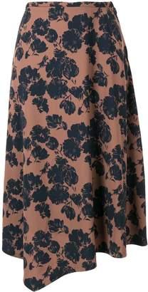 TOMORROWLAND floral print asymmetric skirt