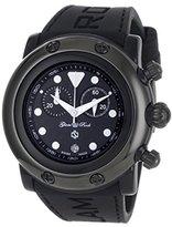 Glam Rock Women's GR61111 Miami Beach Chronograph Black Dial Black Silicone Watch