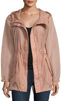 Andrew Marc Teri Translucent Rain Jacket, Pink