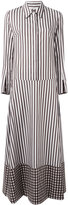 Dondup striped shirt dress