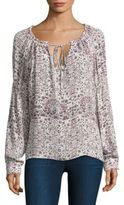 L'Agence Crawford Floral Print Silk Blouse