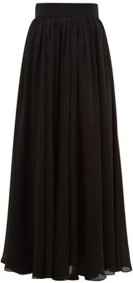 Zimmermann Super Eight Silk-charmeuse Maxi Skirt - Black