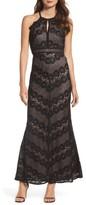 Women's Morgan & Co. Crisscross Lace Gown