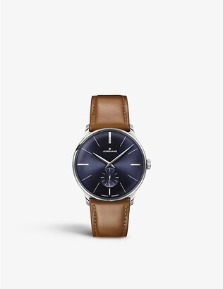 Junghans 027/3504.00 Meister stainless steel and leather watch